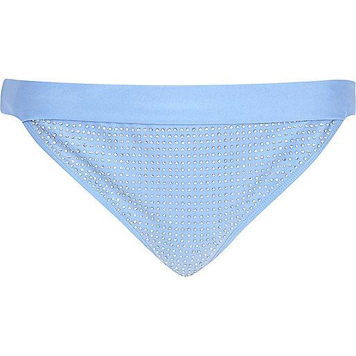 Blue bikini brief