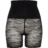 Black Pretty Polly lace body shaper shorts