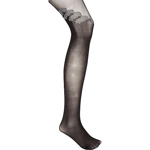 Black Jonathan Aston floral tights