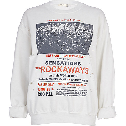 White The Rockaways oversized sweatshirt