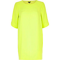 Yellow cut out back shift dress