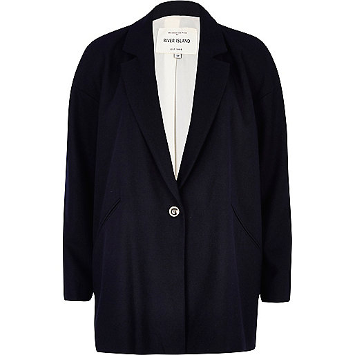 Navy blue oversized coat
