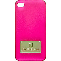 Bright pink frosted iPhone 4/4S case