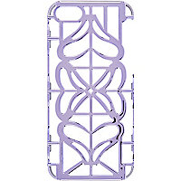 Purple cut out iPhone 5 case