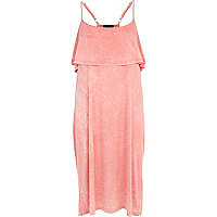 Light pink acid wash cami dress