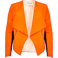 Bright orange waterfall jacket