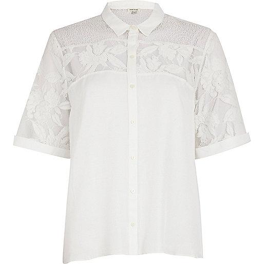 river island white blouse