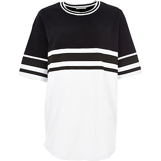 Black and white jumbo stripe t-shirt