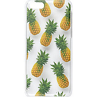 Clear Skinnydip pineapple iPhone 5C case