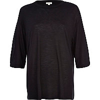 Black marl oversized t-shirt