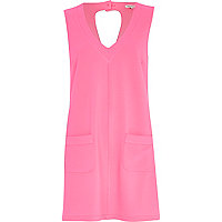 Pink Chelsea Girl V neck shift dress
