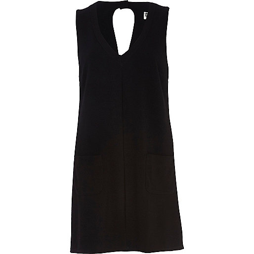 Black Chelsea Girl V neck shift dress
