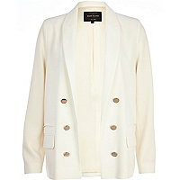 White relaxed fit blazer