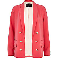 Bright pink relaxed fit blazer