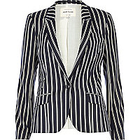 Navy stripe tailored blazer