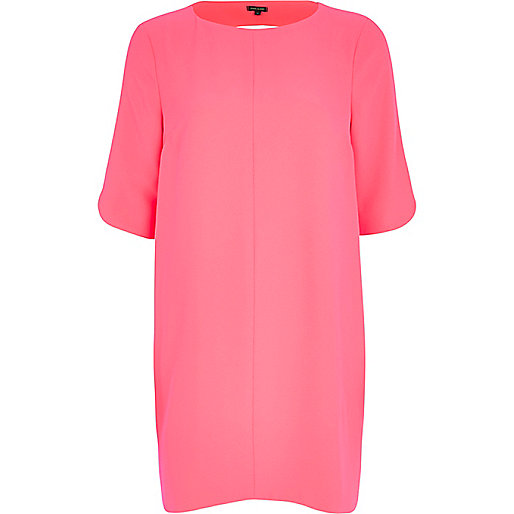 Pink cut out back shift dress