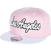 Light pink Los Angeles trucker hat