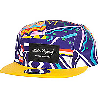Purple aztec print trucker hat