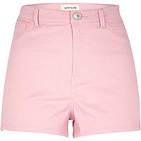 Light pink high waisted stretch shorts