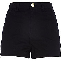 Black high waisted Nori denim shorts