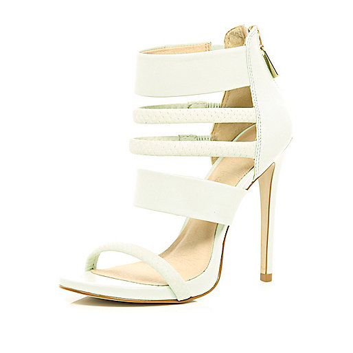 Light green strappy sandals