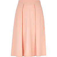 Light orange midi skirt