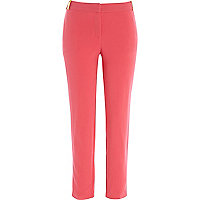 Bright pink slim cigarette pants