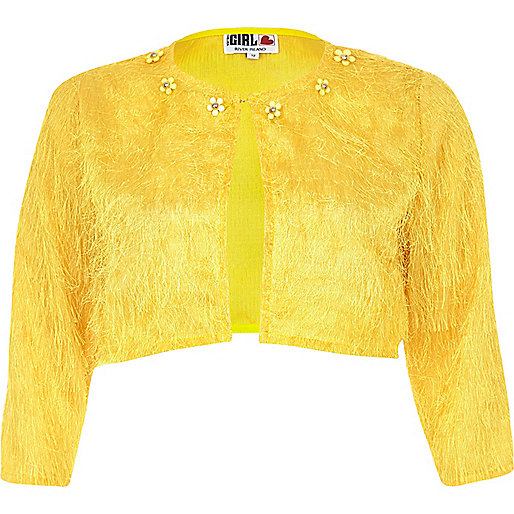 Yellow Chelsea Girl bolero shacket