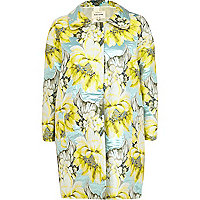 Light yellow floral print coat