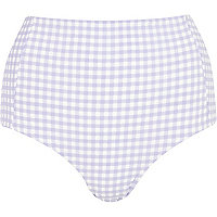 Light purple gingham bikini bottoms