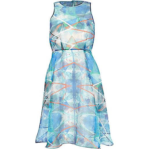 river island blue dress