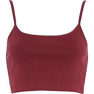 Red cami crop top