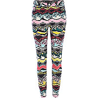Blue tribal Lana superskinny jeans