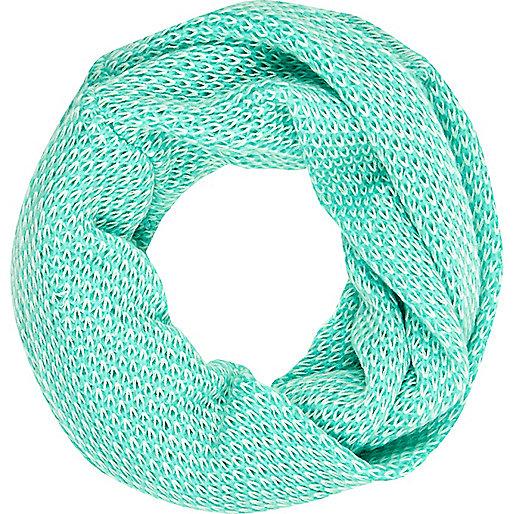 Aqua waffle knit snood