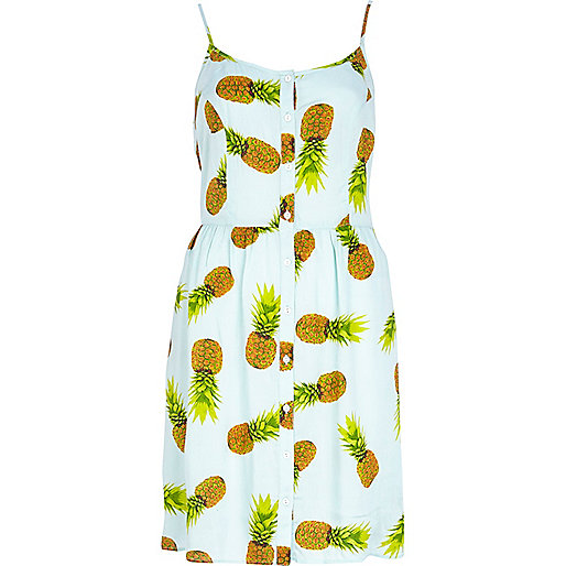 Pineapple Print Cami Dress £22
