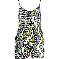 Lilac Chelsea Girl tribal print playsuit