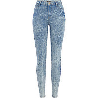 Mid acid wash Molly jeggings