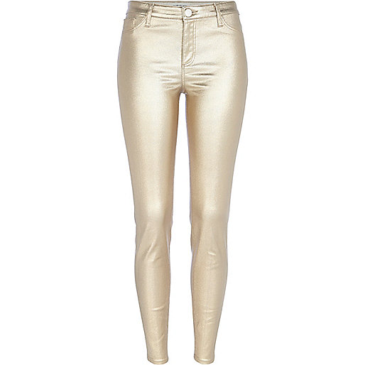 Gold metallic Molly jeggings
