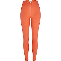 Orange tube pants