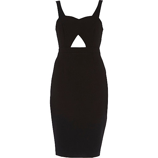 Black cut out sweetheart pencil dress