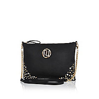 Black embellished cross body bag