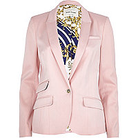 Pink tailored blazer