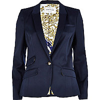 Navy tailored blazer