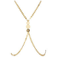 Gold tone coin body harness