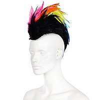 Multicoloured feather mohawk
