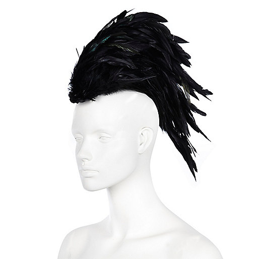 Black feather mohawk