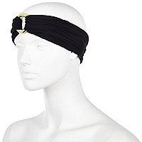 Black turban-style headband