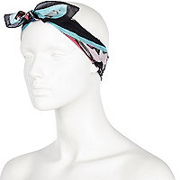 Green insect print headscarf