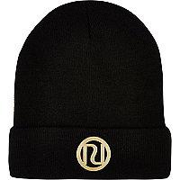 Black RI logo beanie hat