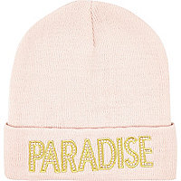 Pink Paradise beanie hat